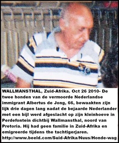 DeJong Albertus 66 Nederlands Emigrant met bijl afgeslacht Oct252010 hond houdt wacht bij lijk