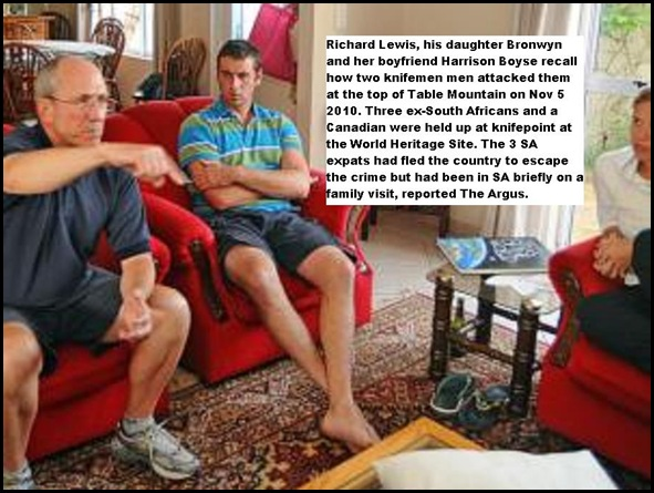 Lewis family of Canada mugged knifepoint Table Mountain Nov52010