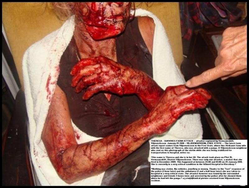Eksteen Theresa Viljoenskroon FS XENOPHOBIC PANGA ATTACK VERMAANSDRIFT JAN252010