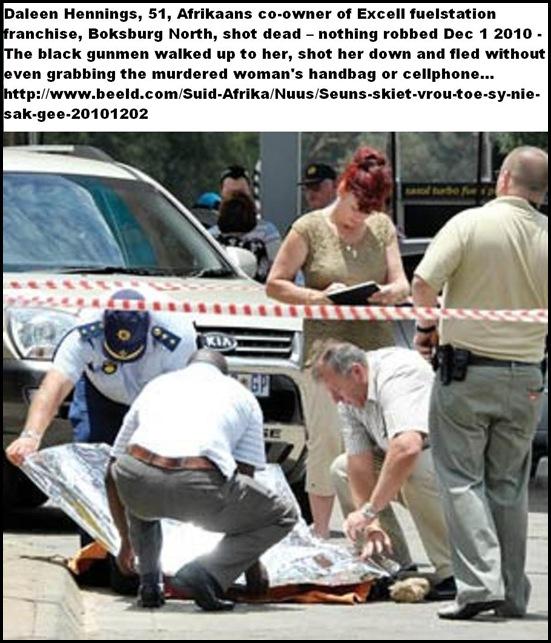 Hennings Daleen shot dead Boksburg N Excel fuelstation NOTHING ROBBED