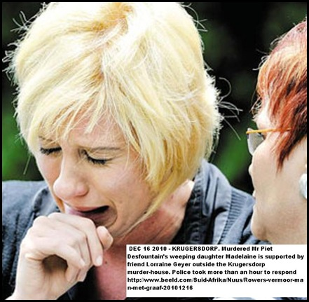 Desfountain Madelaine weeps after murder of dad Piet Krugersdorp Dec162010