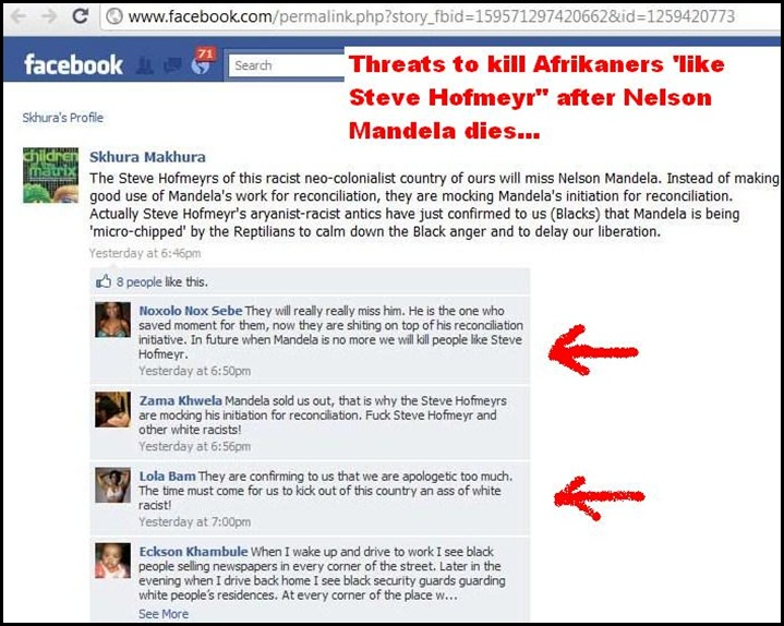 antiafrikaner hatespeech SHKHURA MAKHURA DEC162010