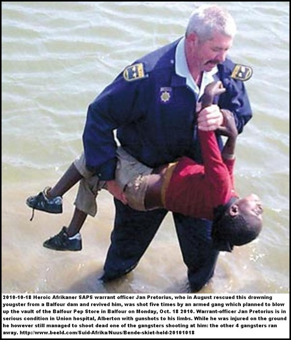 Pretorius Jan SAPS warrant officer who rescued child was shot Balfour shop Oct182010