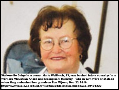 Weilbach Marie 79 Walkerville dairy farmer beaten into coma Dec232010_by2workers_who_were_killed_by_grandson_Viljoen