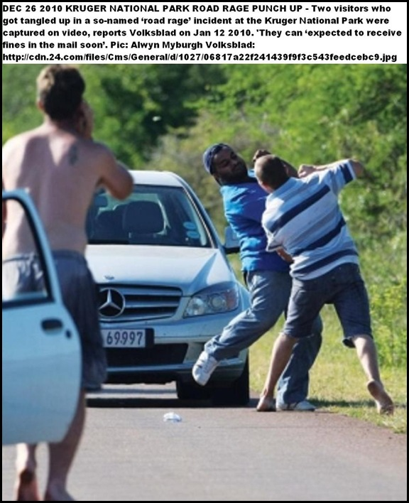 Kruger Park racist incident described as 'road rage' Jan102011