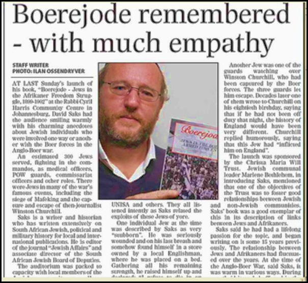 Boerejode SA Jewish Times article booklaunch