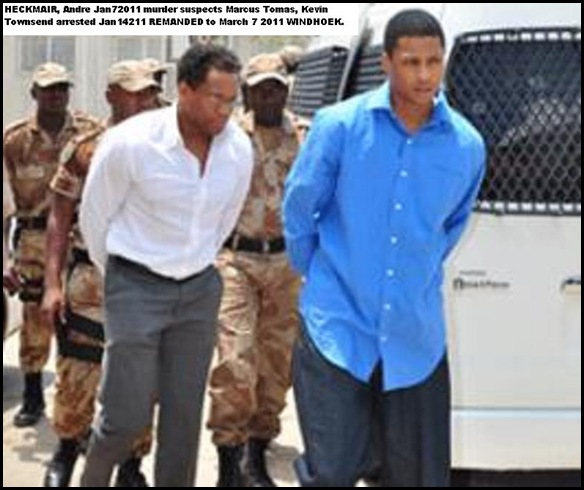 HECKMAIR Andre murder suspects Marcus Tomas, Kevin Townsend Jan142011 SOUTHERNTIMESAFRICA