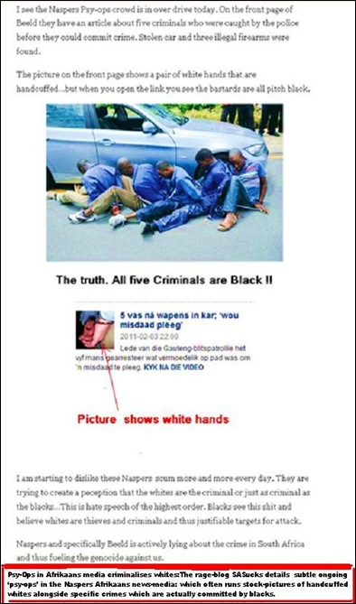 CRIMINALISATION OF WHITES BY NASPERS SASUCKS SAMPLE1