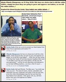 RACIST CHANT ONE BULLET ONE WHITE INFANT ANC-OFFICIALS MAY252010