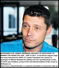 ODENDAAL Jannie runin with speeding Winnie Mandela Dec 302010 Sandton