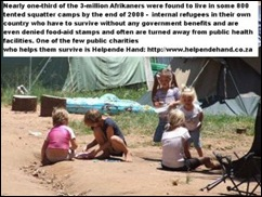 Afrikaner Poor children in camp