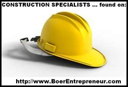 CONSTRUCTION specialists available from BoerEntrepreneurs_com
