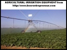 Agricultural irrigation equipment sold by CHRIS BOTHA Boer Entrepreneur