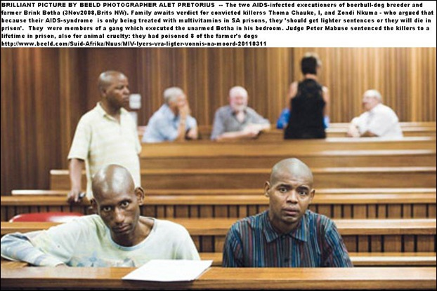 BOTHA BRINK MURDERERS Thomas Chauke_ZondiNkuna_haveAIDS_PretoriaHighCourt_lifesentence
