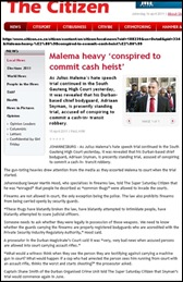 Malema body guard Adriaan Snyman on trial for planning cash heist