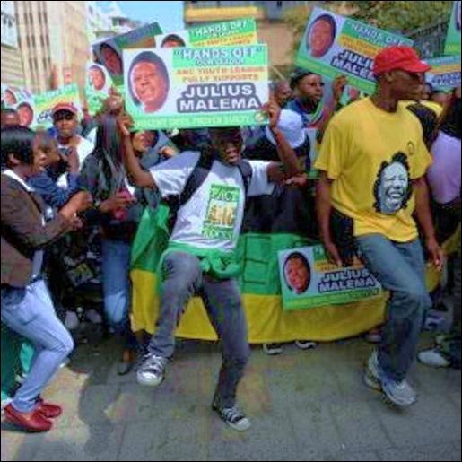 ANTI-BOER intimidation tactics at Malema hatespeech trial Equality courtAPR152011jpeg