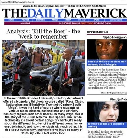 KILL THE BOER WEEK DAILY MAVERICK
