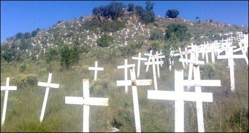 FIELD OF CROSSES STOP BOER GENOCIDE