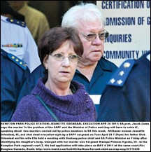 Odendaal Jeanette EXECUTED BY COP dad Dick Odendaal and his wife