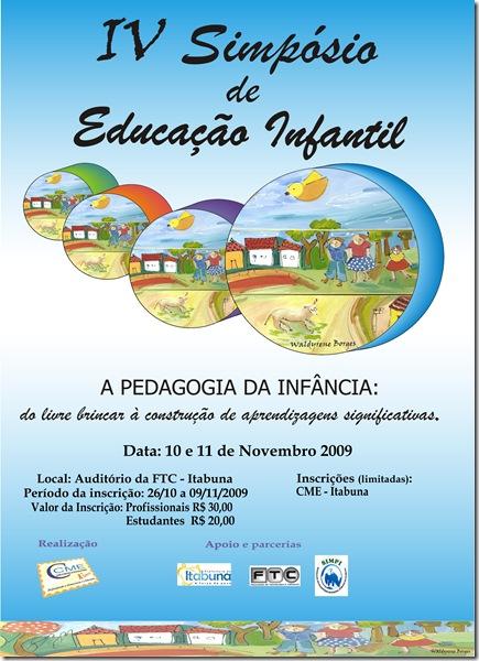 Cartaz IV Simpósio Educação Infantil