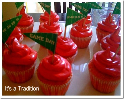 Football cupcakes tailgate