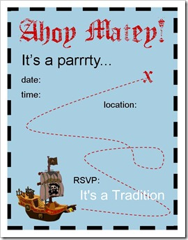Talk Like a Pirate Invitation