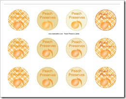 Peach Preserve Canning Labels