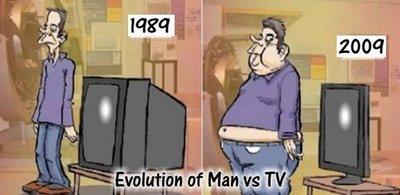 电视与人的进化对比