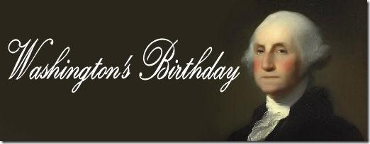 Washington's Birthday billet header