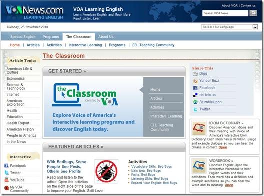 VOA Classroom