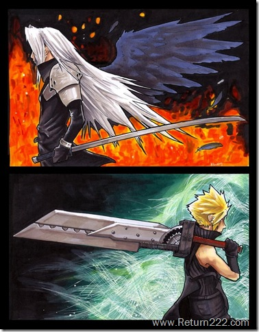 sephiroth_and_cloud_by_EatToast