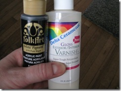 how to make acrylic paint gloss without varnish
