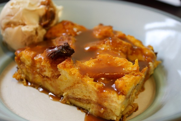 Pumpkin Brioche Bread Pudding with Caramel Sauce | SwissBeets