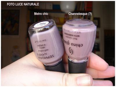 Confronto Metro Chic by OPI vs Channelesque by China Glaze