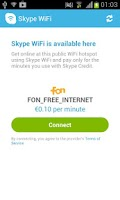 Screenshot of Skype WiFi