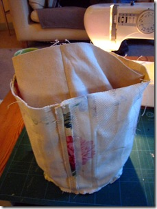 bag into lining
