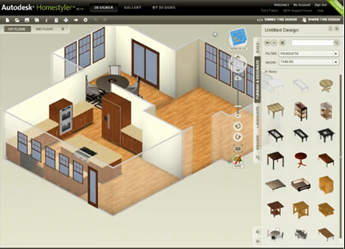 Autocad autodesk homestyler for Programa para decorar interiores online