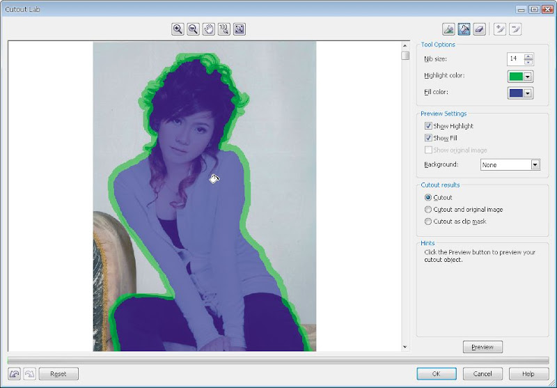 Tách nền trong CorelDRAW X3