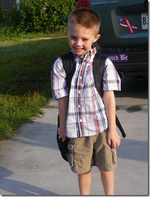 Jakob's first day of school 012