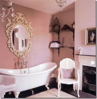 Pink Bathroom Walls