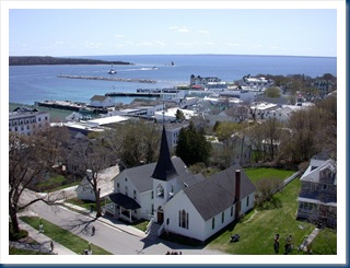 The Town As Seen From Fort Mackinaw