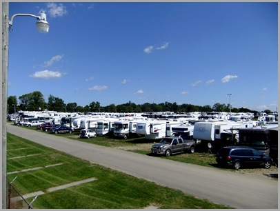 Just Some Of The RVs Parked At The Escapade