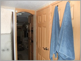 Washer/Dryer is Behind The Door With The Towels