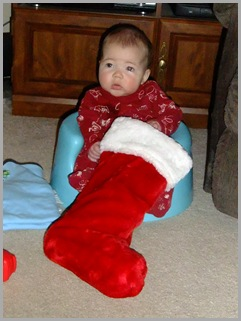Wow!!  A Stocking Almost As Big As The Boy
