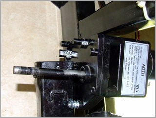 Gear Box And Motor (You Can See The Frame Work That Won't Allow Removal Of The Gear Box)