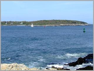 Sailboat Making Its Way Along Cushing Island