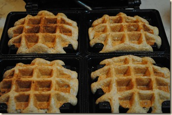 waffles on the iron
