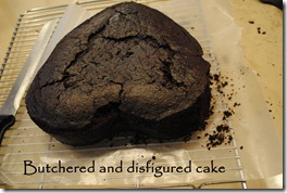 butchred cake