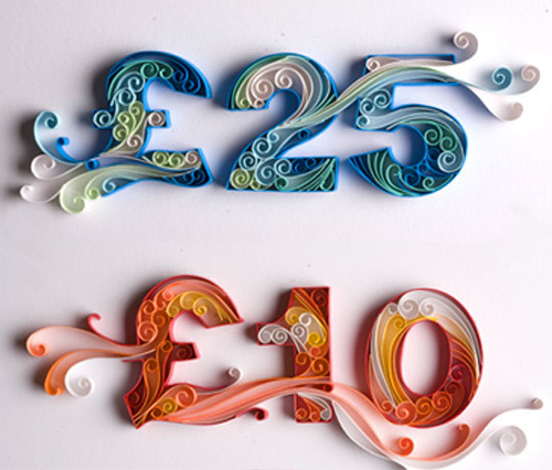 Beautiful Paper Made Typography By Yulia Brodskaya