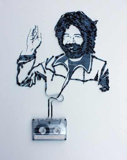 Ghost in the Machine - Extraordinary Artwork by Erika Iris Simmons - Showcase a number of portraits of musicians made 